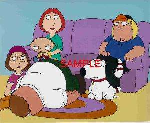 FAMILY GUY FAMILY COUCH SCENE ANIMATION ART PHOTO PETER