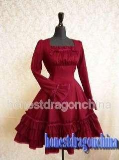 Gothic Lolita Dress Cosplay costume Red Custom Made RL1