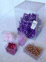 50 PCS 2 1/2x2 1/2x6 3/4 Clear PVC Plastic Tuck Top Box
