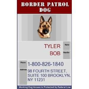BORDER PATROL DOG Badge   1 Dogs Custom ID Badge   Design#5