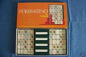 POKER KEENO board card game 1977 Cadaco 100% COMPLETE NICE
