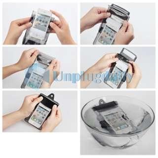 Black Universal Waterproof Bag Case for Samsung Nokia LG HTC Mobile