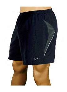 FIT Mens Dark Blue Vented 5 Reflective Lined Running Shorts