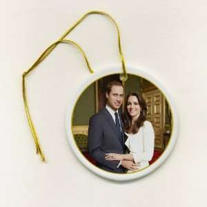 Prince William Kate Middleton Royal Wedding 2 7/8 inch Ceramic Hanging