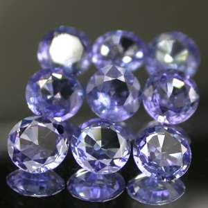 68cts(TCW) 9PC Lot Master Round Cut Natural Tanzanite