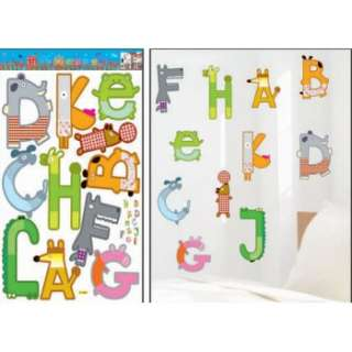 SALE LARGE Nursery Wall Stickers Removable Decals  ALPHABET