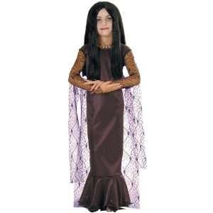 Kids Addams Family Morticia Costume (Size:SM 4 6): Toys