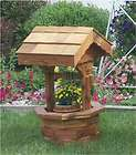 more options amish wooden wishing well garden planter yard decor