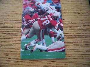 1981 NFL San Francisco 49ers Football Pocket Schedule