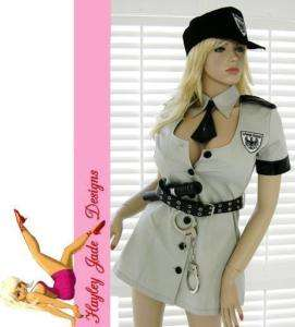 Sexy police girl officer lady cop hat costume S 8/10★
