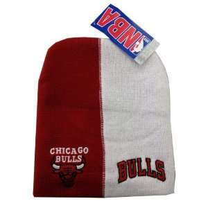 Chicago Bulls Red White Beanie Knit Winter Cap: Sports & Outdoors