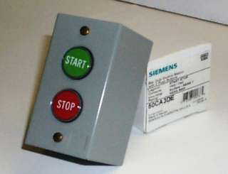 Siemens NEMA 1 Start Stop Control Station Magnetic Starter Surface
