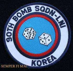 90TH BOMB SQUADRON KOREA PATCH US AIR FORCE WOW ELENDORF AFB ALASKA F