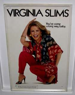 Vintage Virginia Slims Tin Advertising Sign