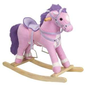 Princess the Pink Plush Toddler Rocking Horse with Sound