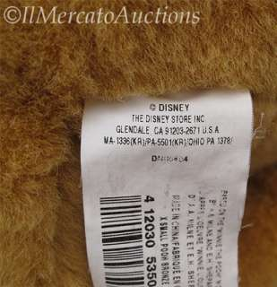 WINNIE the POOH Bear Plush Stuffed Animal Toy Brown Red