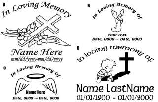 In Loving Memory Vehicle Decal Set of 10 You Design