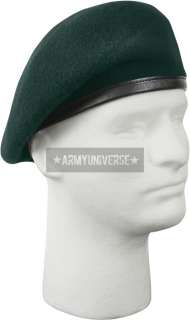 Green Military Inspection Ready Beret