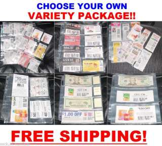 60 ) Coupon binders sleeves pages VARIETY PACK   NEW!