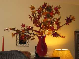 FOUR SETS GKI BETHLEHEM 5   FALL LEAF BRANCHES WITH BO FROSTED LED