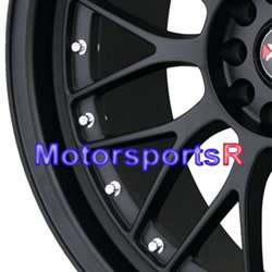18 18x8.5 18x10 XXR 521 Flat Black Rims Wheels Staggered 5x4.5 5x114.3