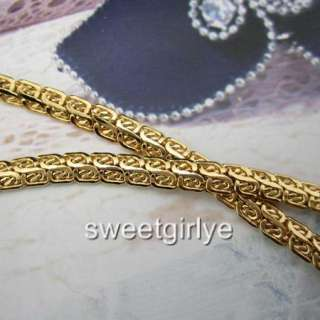 Vogue 18k Yellow gold filled necklace 20Womens chain Lady GF jewelry