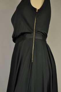 & GABBANA NEW WOMENS BLACK SILKY DRESS SZ 12 NWT $535
