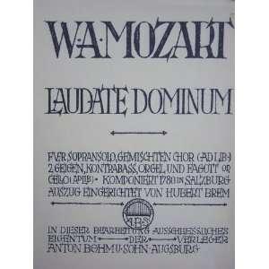 Rheinberger. Partitur, etc. Lat. & Ger: Wolfgang Amadeus Mozart: Books