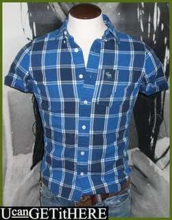 Mens Abercrombie & Fitch Baxter Mountain Plaid Shirt S NWT