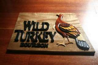 WILD TURKEY BOURBON Wooden Plaque Souvenir Gift