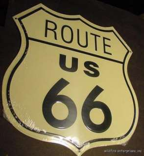 VINTAGE ROUTE US RT 66 METAL STREET SIGN ST MADE IN THE USA road