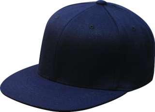 ® 210 Premium Flatbill Blank Fitted Flat Bill Cap Hat 6210