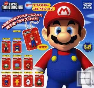 New Super Mario Bros Wii Mini Capsule Blister Collection Mario Figure