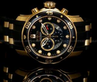 Diver Scuba Chronograph 18K Gold Plated Black Dial Watch 6981
