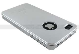 NEW Aluminum Luxury Metal Skin Rubberized Hard Case Cover For iPhone