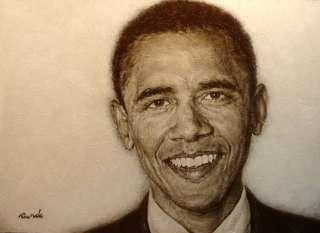 Ron Rundo President Barack Obama Original Painting portrait Hand