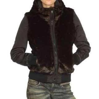 Fashion Clothing Miss 60 Sixty WHITLEY New Women Fur Hood Jacket Coat