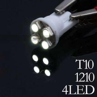 T10 Ultra Bright 4SMD White Car LED Light Bulb Lamp 12V