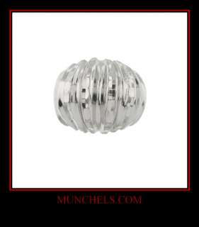 LADIES 10K SOLID WHITE GOLD FASHION RING   DESIGNER MA