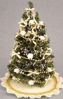Dollhouse Miniature Decorated Christmas Tree #DH4794