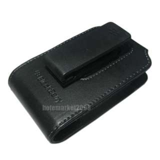 Holster Leather Pouch Clip Case BlackBerry Bold 9700