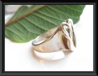 HAGIT GORALI Sterling Silver 925 Heart Israel Ring 10