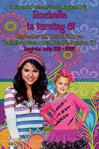 of Waverly Place Selena Gomez Custom Photo Birthday Party Invitations