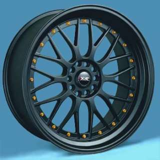 17 XXR 521 BLACK WHEELS 17x7 RIMS GOLD RIVETS 4 LUG