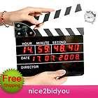 Movie Slate Clapper Board LED Digital Alarm Clock GIFT