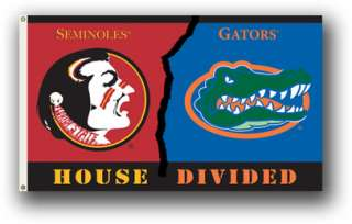 Florida Gators/FSU State Seminoles Football Rivals Flag