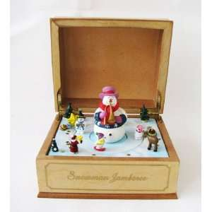 We Wish You a Merry Christmas Snowman Music Box