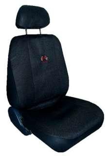 BLACK RACING CAR SEAT COVERS SPORT JERSEY 9 PC PKG