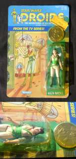 Star Wars Droids Kea Moll Vintage 1985 Mint/Sealed On Worn Card Back