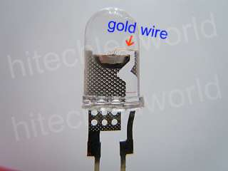 500p High Power 0.5W 5mm White LED LIGHT BULB 110Kmcd